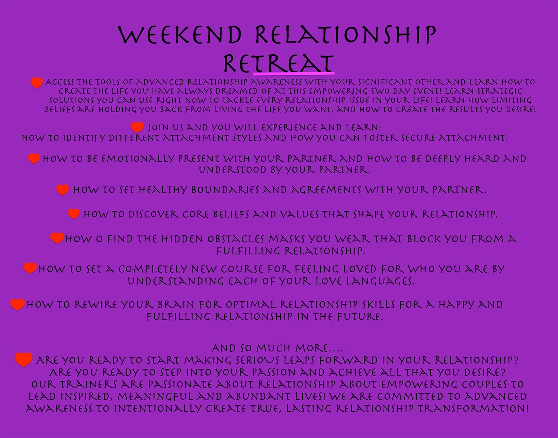 Weekend Relationship Retreat