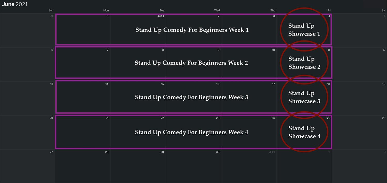 Stand Up Month Calendar