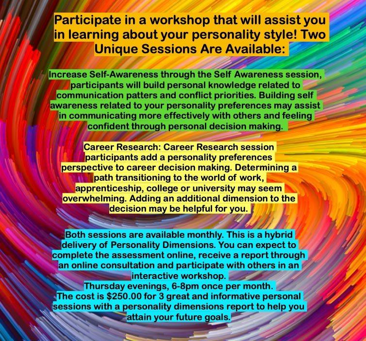 October 8 Self Awareness' and 'October 15 Career Research